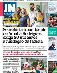 capa Jornal de Notícias de 4 outubro 2020