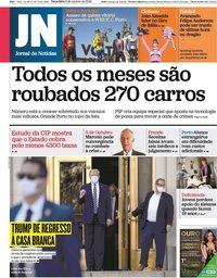 capa Jornal de Notícias de 6 outubro 2020