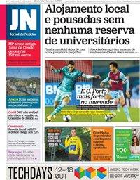 capa Jornal de Notícias de 7 outubro 2020