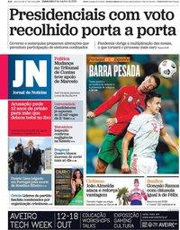 capa Jornal de Notícias de 8 outubro 2020