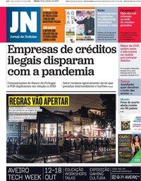 capa Jornal de Notícias de 10 outubro 2020