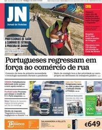 capa Jornal de Notícias de 11 outubro 2020