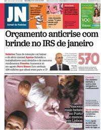 capa Jornal de Notícias de 13 outubro 2020