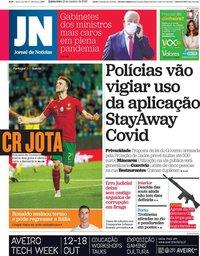 capa Jornal de Notícias de 15 outubro 2020