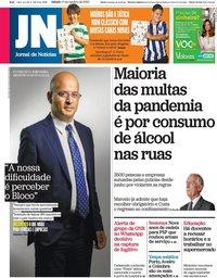 capa Jornal de Notícias de 17 outubro 2020