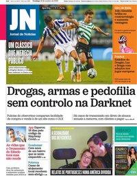 capa Jornal de Notícias de 18 outubro 2020