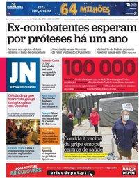 capa Jornal de Notícias de 20 outubro 2020