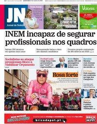 capa Jornal de Notícias de 21 outubro 2020