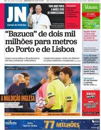 capa Jornal de Notícias de 22 outubro 2020