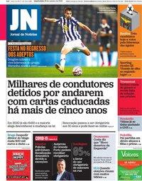 capa Jornal de Notícias de 28 outubro 2020