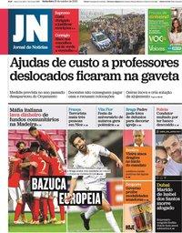capa Jornal de Notícias de 30 outubro 2020