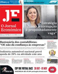 capa Jornal Económico de 23 outubro 2020