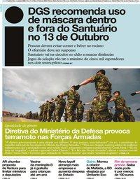 capa Jornal i de 1 outubro 2020