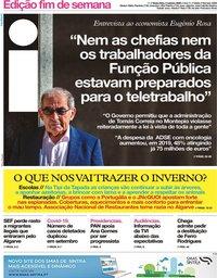 capa Jornal i de 2 outubro 2020