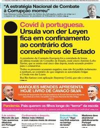 capa Jornal i de 6 outubro 2020