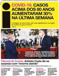 capa Jornal i de 7 outubro 2020