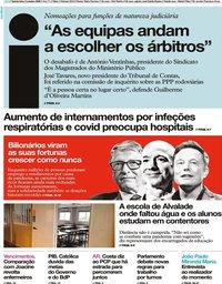 capa Jornal i de 8 outubro 2020