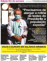 capa Jornal i de 9 outubro 2020