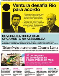 capa Jornal i de 12 outubro 2020