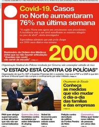 capa Jornal i de 13 outubro 2020