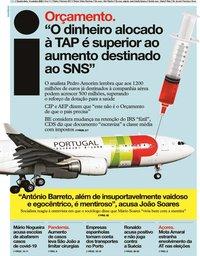 capa Jornal i de 14 outubro 2020