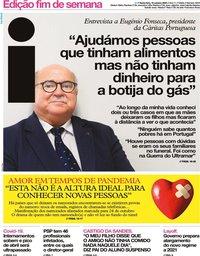 capa Jornal i de 16 outubro 2020