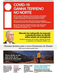 capa Jornal i de 19 outubro 2020