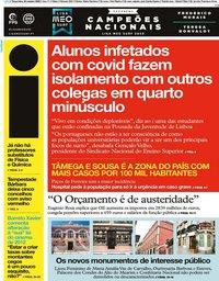 capa Jornal i de 20 outubro 2020