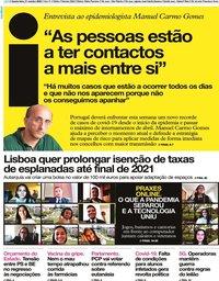 capa Jornal i de 21 outubro 2020