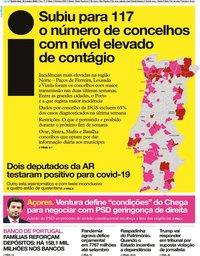 capa Jornal i de 28 outubro 2020