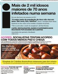 capa Jornal i de 29 outubro 2020