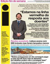 capa Jornal i de 30 outubro 2020