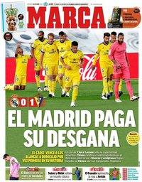 capa Jornal Marca de 18 outubro 2020