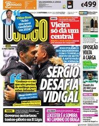 capa Jornal O Jogo de 3 outubro 2020