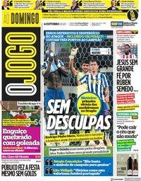 capa Jornal O Jogo de 4 outubro 2020
