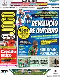 capa Jornal O Jogo de 5 outubro 2020
