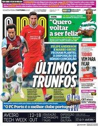 capa Jornal O Jogo de 7 outubro 2020