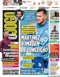 capa Jornal O Jogo de 10 outubro 2020