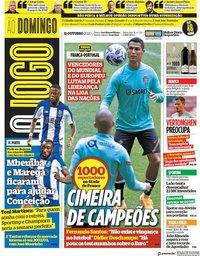 capa Jornal O Jogo de 11 outubro 2020