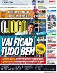 capa Jornal O Jogo de 14 outubro 2020