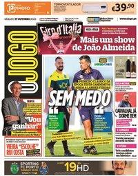 capa Jornal O Jogo de 17 outubro 2020