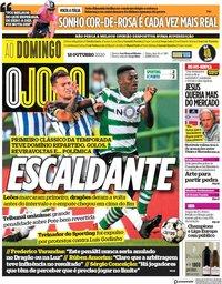 capa Jornal O Jogo de 18 outubro 2020
