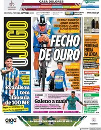 capa Jornal O Jogo de 26 outubro 2020
