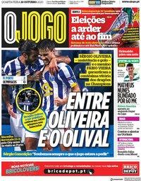 capa Jornal O Jogo de 28 outubro 2020