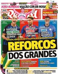 capa Jornal Record de 6 outubro 2020