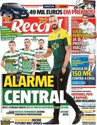 capa Jornal Record de 13 outubro 2020
