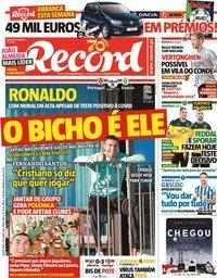 capa Jornal Record de 14 outubro 2020