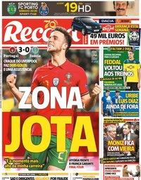 capa Jornal Record de 15 outubro 2020