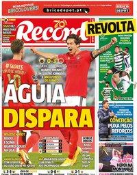 capa Jornal Record de 19 outubro 2020