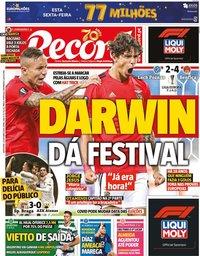 capa Jornal Record de 23 outubro 2020